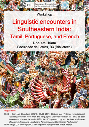 Linguistic encounters in Southeastern India: Tamil, Portuguese, and French